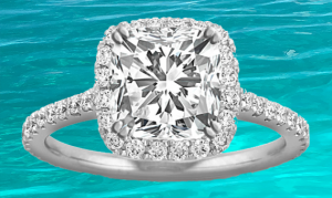 Halo Diamond Ring St. Thomas