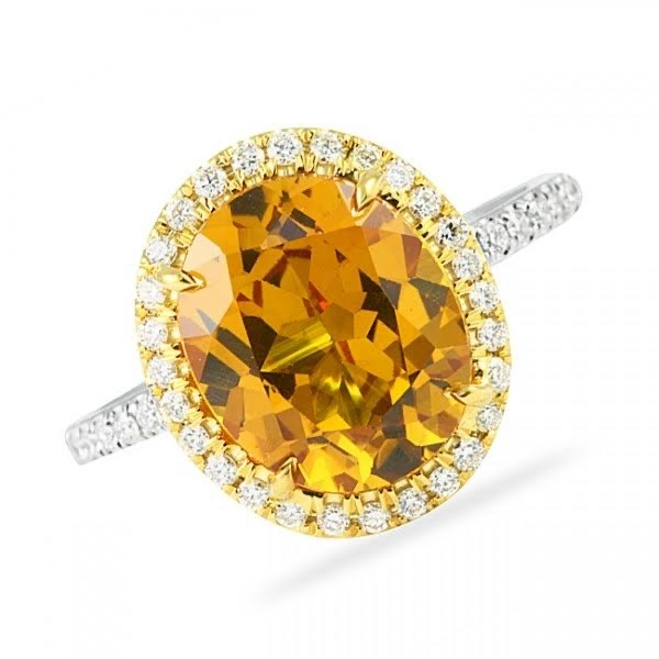 November yellow topaz ring st thomas
